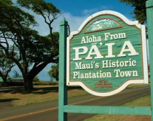 Paia Welcome sign