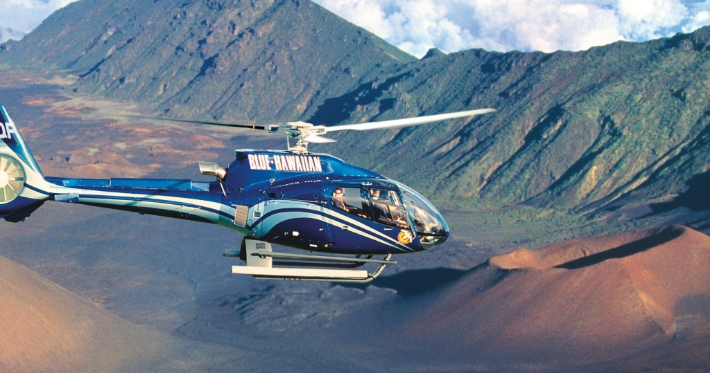 A helicopter tour over both Hana and Haleakala is an unforgettable experience.